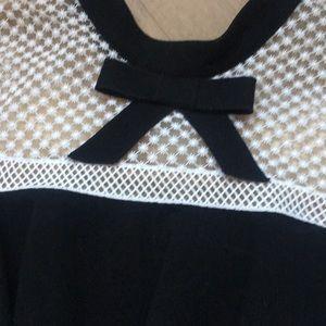 Self-Portrait Dresses - Self portrait cap sleeve lace crepe mini dress